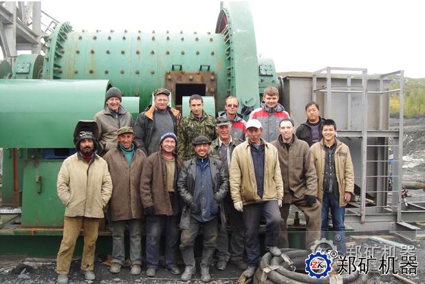 俄罗斯金矿选矿球磨机、破碎机项目